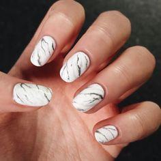 21 Best White Marble Nails Art Images On Pinterest Beauty Gel