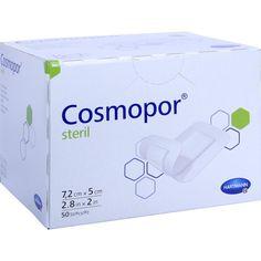 COSMOPOR steril 5x7,2 cm:   Packungsinhalt: 50 St Pflaster PZN: 04302005 Hersteller: PAUL HARTMANN AG Preis: 23,90 EUR inkl. 19 % MwSt.…