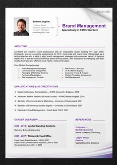 Professional Modern Cv Template For Pages  Modern Cv Template Cv