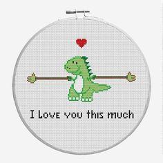 Punto De Cruz Name: 'Embroidery : Valentine's Days Cross Stitch Pattern - Funny Cross Stitch Patterns, Cute Cross Stitch, Cross Stitch Kits, Cross Stitch Designs, Cross Stitch Borders, Learn Embroidery, Cross Stitch Embroidery, Embroidery Patterns, Hand Embroidery