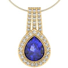 GORGEOUS 1.5 CT TANZANITE PRINCESS CUT 925 STERLING SILVER PENDANT