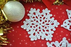 Crochet snowflakes are so easy and fun to make. They are a perfect starting point for beginners and you can complete a simple snowflake faster than any other Free Crochet Snowflake Patterns, Christmas Crochet Patterns, Crochet Snowflakes, Christmas Snowflakes, Christmas Crafts, Crochet Christmas, Christmas Ornaments, Christmas Things, Christmas 2017