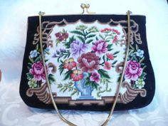 1970's petit pointe handbag...