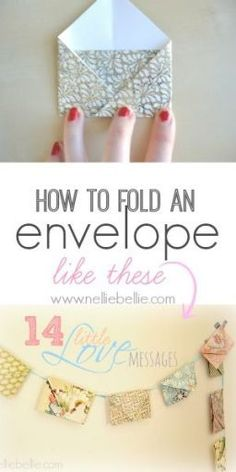 DIY tutorial for how to fold an envelope from scrapbook paper. What a gorgeous idea for a unique bunting! I have to check out this tutorial.