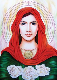Mary Magdalene of the Labyrinty pendant by Lily Moses on Etsy
