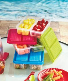 Mix Up Your Leftovers And Prepped Items With The Set Of 3 Divided Food Storage  Containers. You Will Find Multiple Uses For These Roomy Plastic Containers  ...