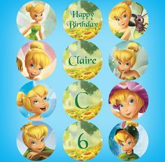 Tinkerbell Cupcake Toppers