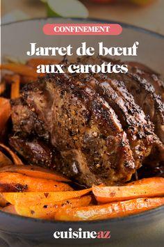 Le jarret de bœuf aux carottes est un plat familial mijoté. Le cuisiner durant le confinement suite au coronavirus est une bonne idée. #recette#cuisine#pates#confinement #boeuf #carotte My Best Recipe, Pot Roast, Steak, I Am Awesome, Good Food, Gluten, Ethnic Recipes, Casserole Recipes, Meat