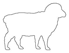 Sheep pattern. Use the printable outline for crafts, creating stencils, scrapbooking, and more. Free PDF template to download and print at http://patternuniverse.com/download/sheep-pattern/