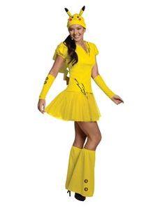 Pikachu Dress Adult Womens Costume - 346181 | trendyhalloween.com #trendyhalloween #womenscostumes