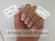 Easiest French Manicure Tutorial EVER!