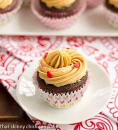 Chocolate Stout Cupcakes with Caramelized White Chocolate Ganache…