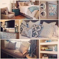 Master bedroom color scheme- This exactly what I'm going for in my new bedroom!  It's given me a few more choices.