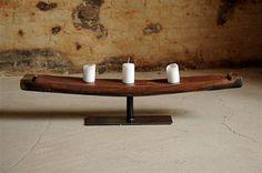Interior design recupero elementi in ferro utilizzati come - Portacandele da tavolo ...