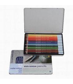 Talens Van Gogh Aquarel Pencil 12 Colour Metal Box