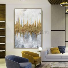 Gold Leaf Acrylic Paintings On Canvas original modern Abstract extra Large abstract wall art paintings quadro home decor cuadros abstractos Dog Canvas Painting, Diy Canvas Art, Painting Frames, Acrylic Paintings, Art Paintings, Large Abstract Wall Art, Gold Leaf Art, Feuille D'or, Gold Canvas