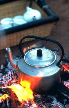 Cooking in the spirit of the explorers right there out in the bush.
