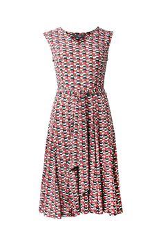 Print Flare V Dress #maxshopdress