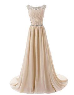 Dressystar Chiffon dress Long Bridesmaid Dress Beading Ball Gown Champagne Size 6 Dressystar http://www.amazon.co.uk/dp/B00KVW4LFW/ref=cm_sw_r_pi_dp_fNWwvb0ZJYSAX
