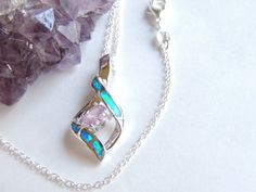 Gemstone Necklace Opal Necklace Opal Pendant by AlwaysCrafty77, $28.00
