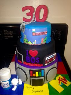 """""""Party Like it's 1985"""" 80s Themed Cake"""