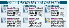 UK weather forecasters predicting snow for much of the country | Daily Mail Online