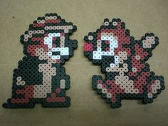 Chip & Dale Rescue Rangers perler bead magnets by 8BitMuffin