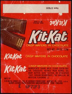 Hershey - Kit Kat - KitKat - two-stick - candy bar wrapper - early 1970's by JasonLiebig, via Flickr