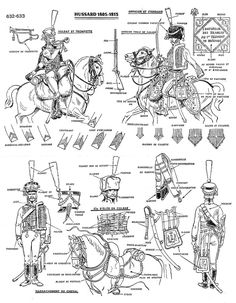 """Hussars 1805 - 1813 . From the """"Historex"""" plates"""