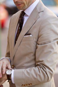 Essential Khaki Suit - He Spoke Style