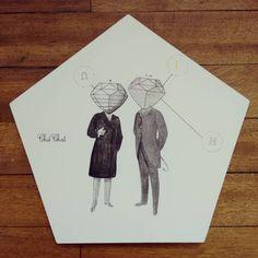""" ChitChat "" posa calientes pieza única #Himallineishon #illustration #chitchat #homedecor #handpainted"