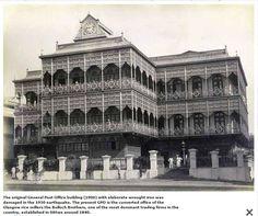 The original General Post Office building , Yangon, Myanmar. 1900