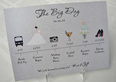 Sonntagshäppchen: Hochzeitsprogramm mit Piktogrammen | Hochzeitsblog Fräulein K. Sagt Ja