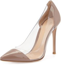 Gianvito Rossi Patent & PVC Illusion Pump, Rose