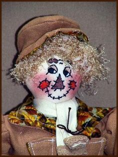 I Am A Refined Scarecrow Jimmy Victorian  Stump Art Doll E-Pattern by Linda Walsh Originals