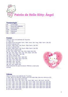 Doll Sewing Patterns, Crochet Animal Patterns, Crochet Doll Pattern, Stuffed Animal Patterns, Crochet Animals, Crochet Toys, Crochet Baby, Free Crochet, Hello Kitty Items