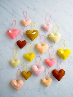 DIY Heart Charms How-To from Purl Bee