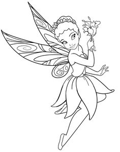 "Disneyland Printable Coloring Pages: Disney Characters Fairies "" Iridessa "" Coloring Sheet"