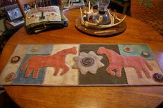 Tom Miner Quilts and Folk Art: A Wool Table Rug