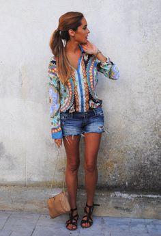 Zarazara  Camisas / Blusas and Abercrombie Fitchabercrombie-fitch  Pantalones cortos
