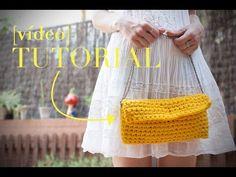 Cómo hacer un bolso fácil de ganchillo | How to make a crochet purse - YouTube