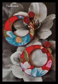 Resultado de imagen de aros de flamenca forrados de plumeti