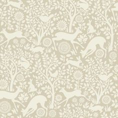 "Brewster Home Fashions Hide and Seek Anahi Forest Fauna 33' x 20.5"" Wildlife Embossed Wallpaper Color: Neutral"