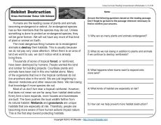 In danger of Extinction | Comprehension, 3rd grade reading and The ...
