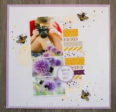 Bees Knees. 12x12 scrapbook layout. www.clairmatthews.com