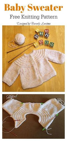 Crochet Blankets For Men Quick Baby Sweater Free Knitting Pattern Baby Cardigan Knitting Pattern Free, Baby Boy Knitting Patterns, Baby Sweater Patterns, Crochet Baby Cardigan, Knit Baby Sweaters, Baby Patterns, Free Knitting, Knitting Looms, Crochet Hats