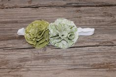 Fabric blossom flower headbands