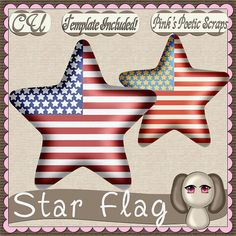 Star Flag Script (FS-CU-TEMPLATE-PSP SCRIPT) [Pink] : Scrap and Tubes Store, Digital Scrapbooking Supplies