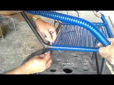 How to Make A Macramé Chair - YouTube