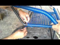 Aprenda a enrolar uma cadeira de espaguete. - YouTube